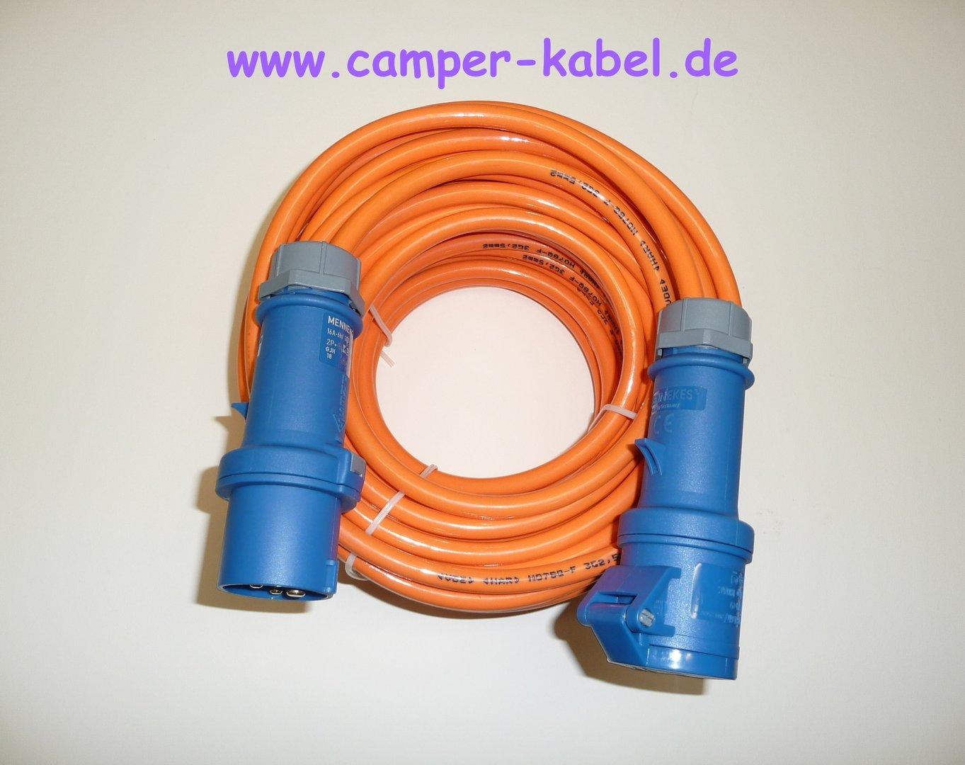 Cee kabel 25m camping